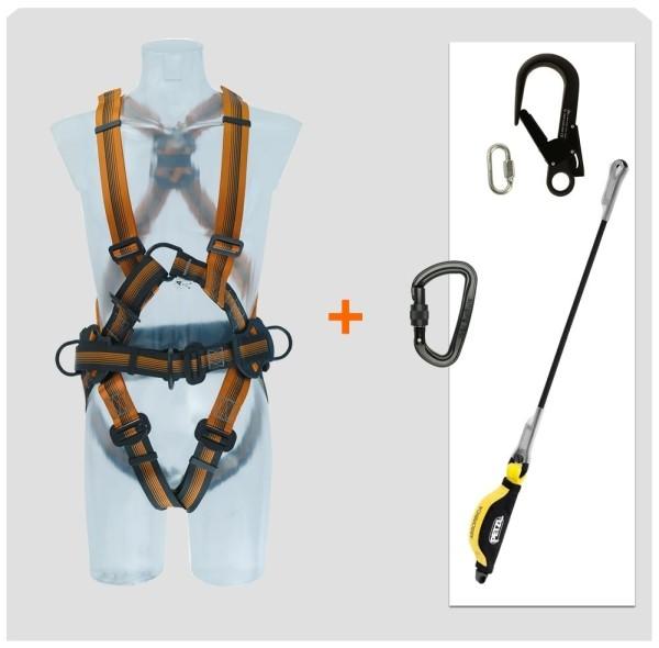 EinsteigerPSA-Set mit Auffanggurt und Falldämpfer