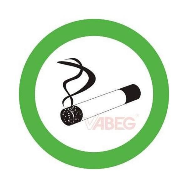 """Aufkleber """"Rauchen gestattet"""" 5cm"""