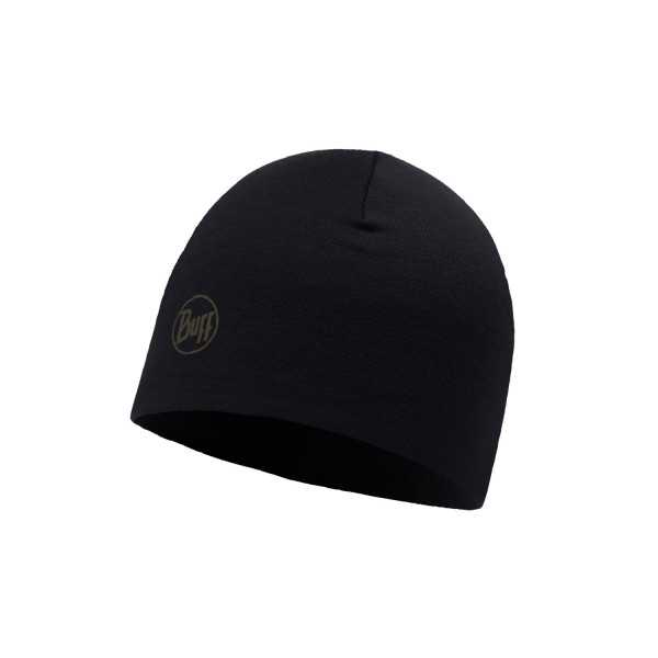 Buff Merino Wool Thermal Hat SOLID BLACK