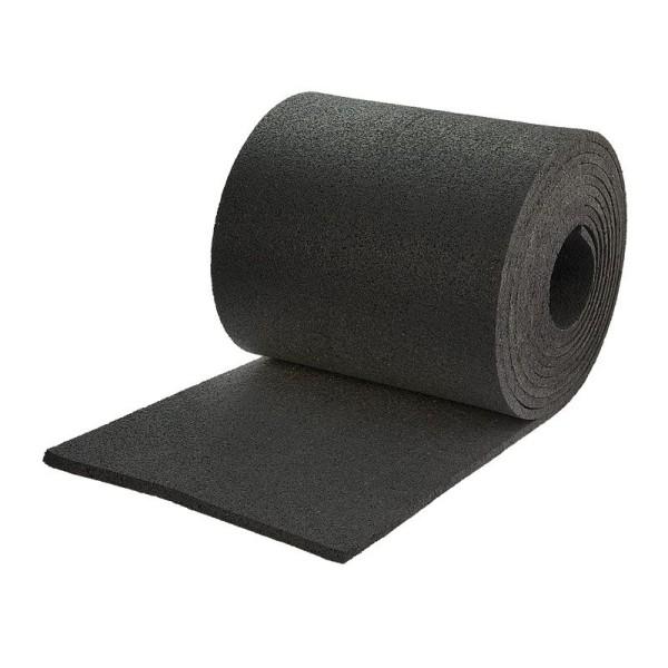 Antirutschmatte aus schwarzem Gummigranulat, 5m