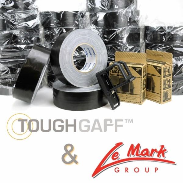 1 Kiste Gaffer-Tape schwarz + 1 ToughGaff gratis