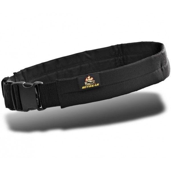 Setwear 2'''' Padded Belt Schwarz L/XL