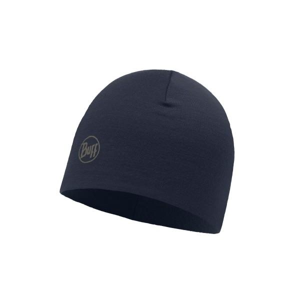 Buff Merino Wool Thermal Hat SOLID NAVY
