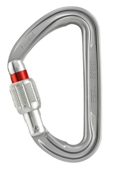 Petzl Spirit Karabiner Screw-Lock Silber