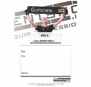 Eventshop Geschenk Gutschein