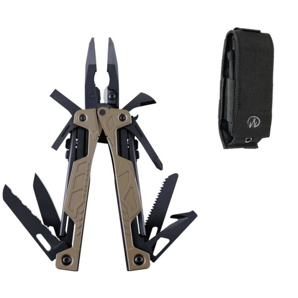 Leatherman OHT Coyote Tan + Molle-Holster Schwarz
