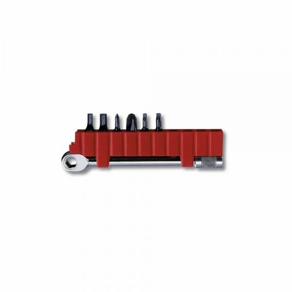 Swiss Tool Ratsche-Schlüssel, Bithalter + 6 Bits