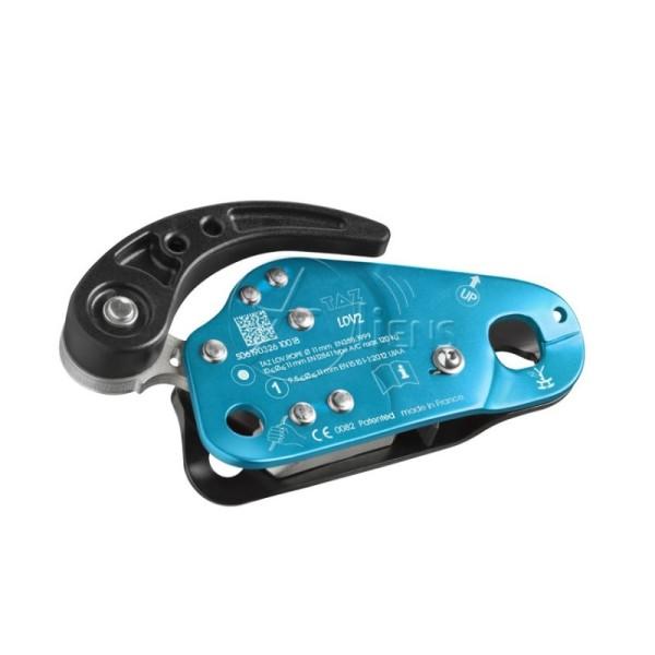 TAZ Abseilgerät und mitl. Auffanggerät LOV2 Cyan