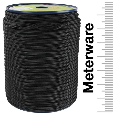 Tendon Reepschnur 5 mm schwarz 100 m Rolle