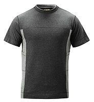 Snickers 2505 Fußball-T-Shirt, schw/grau S