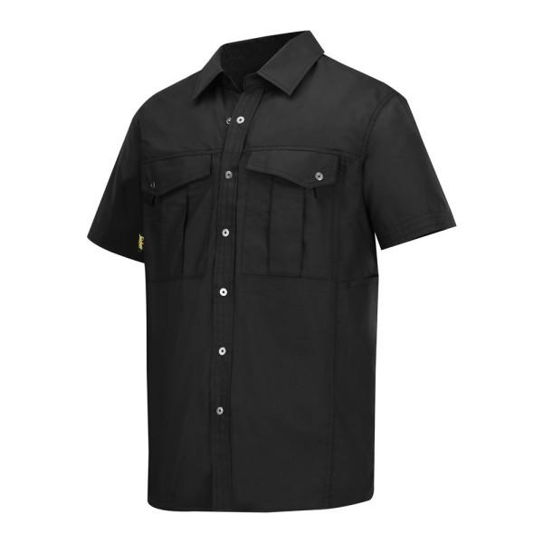 Snickers 8506 Ripstop Hemd, kurzarm Schwarz M