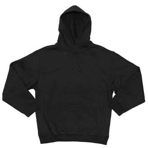 Basic Kapuzen-Pullover, schwarz