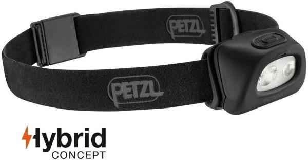 Petzl Tactikka + Stirnlampe 350 Lumen schwarz, Hybrid