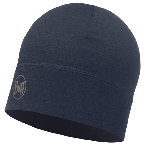 Buff Merino Wool Hat SOLID NAVY