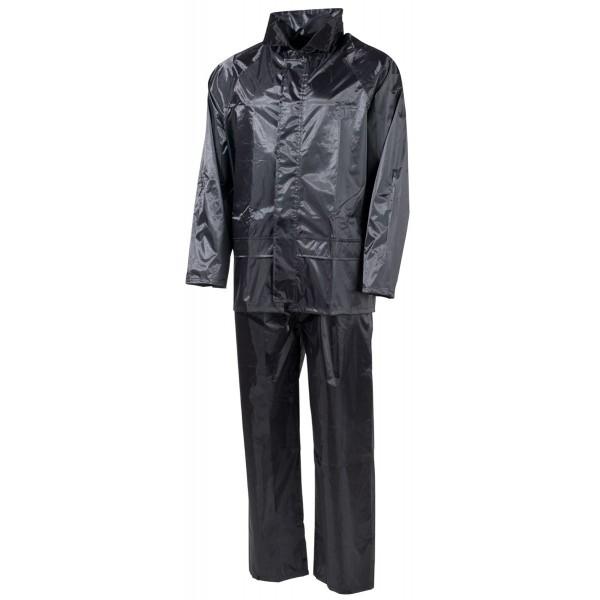 Regenjacke plus Regenhose Set schwarz, Small