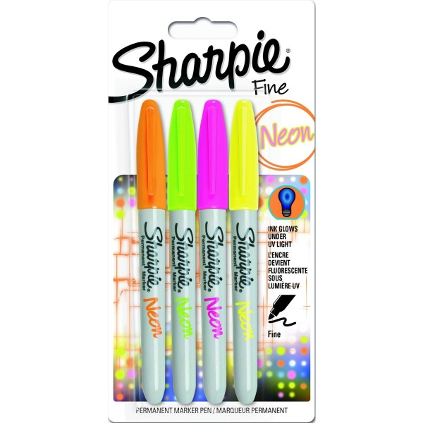 Sharpie Neon Set Finepoint Marker 4 Farben