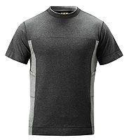 Snickers 2505 Fußball-T-Shirt, schw/grau XS