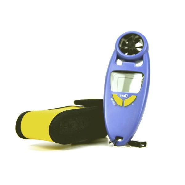 Kompakter Handwindmesser mit Batterie