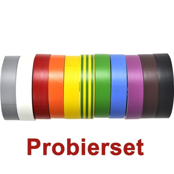 Le Mark PVC Tape Isolierband-Set 11 Farben, 19mm