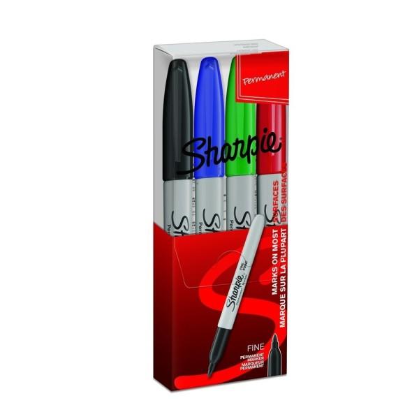 Sharpie Set Finepoint Marker 4 Farben