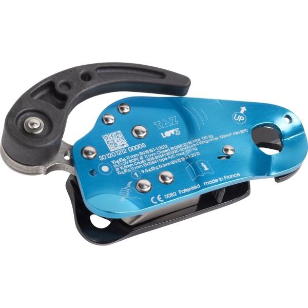 TAZ LOV3 Abseilgerät und mitl. Auffanggerät Cyan