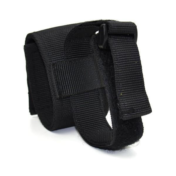 Handschuhhalter, Nylon, schwarz mit Klettband