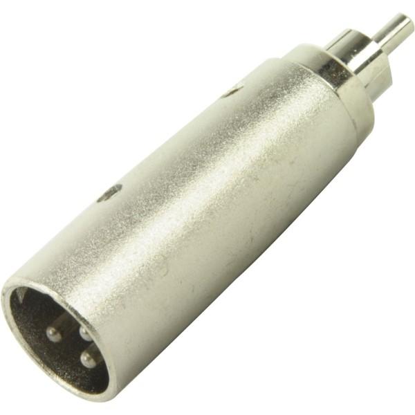 Adapter XLR male auf Cinch-Stecker